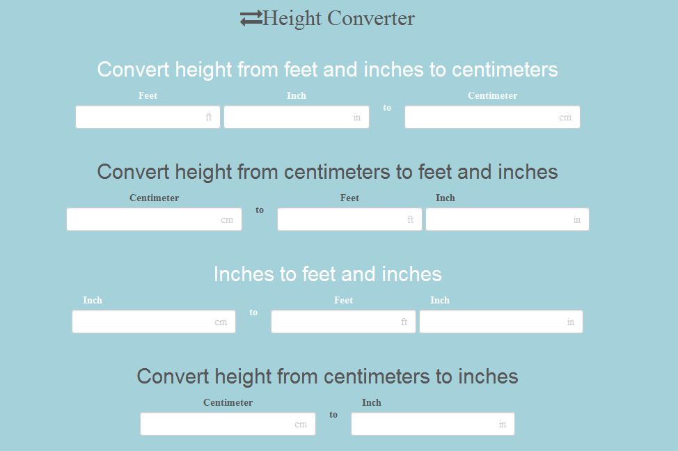 meters to feet conversion table